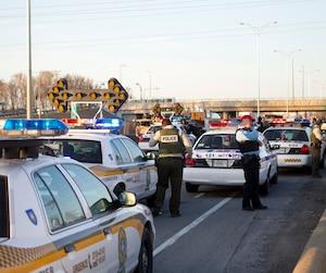 Poursuite policiere a Montreal