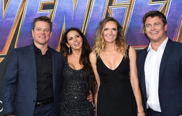 Matt Damon, Luciana Barroso, Samantha Hemsworth et Luke Hemsworth