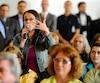 Le très attendu procès du recours collectif en dommages intenté par les citoyens Véronique Lalande (photo) et Louis Duchesne contre Arrimage Québec et le Port de Québec s'est ouvert, lundi, au palais de justice de Québec.
