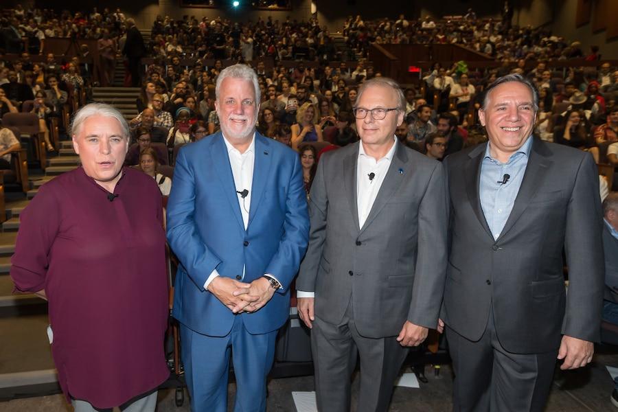Débat des chefs en anglais: un précédent irresponsable, déplore le Mouvement Québec français