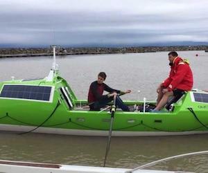 Joseph Gagnon et son partenaire Brian Conville avant le départ en mer.