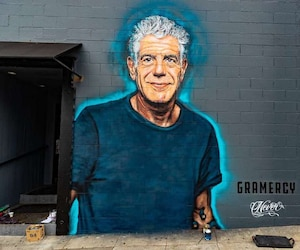 Une peinture murale en l'honneur de Bourdain à Santa Monica.