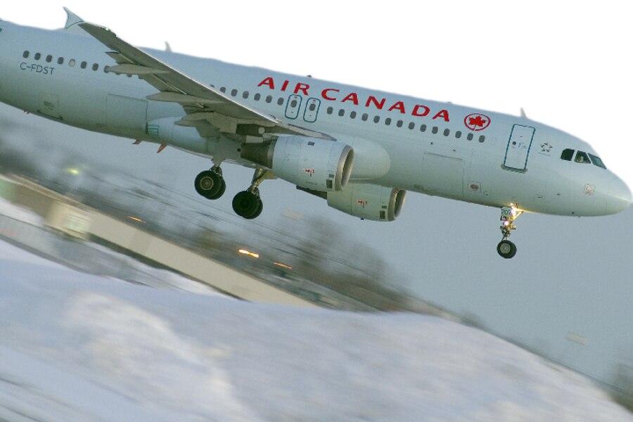 Un airbus A320 d'Air Canada.