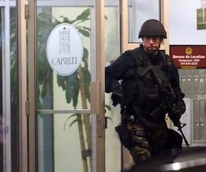 Des policiers ont procédé à l'arrestation d'Hisham Saadi tard mercredi à son logement dans Côte-des-Neiges, quelques heures après une alerte à la bombe à Concordia.