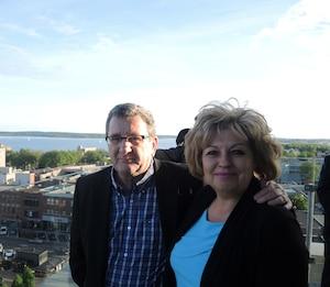 Régis Labeaume est à Charlottetown en compagnie, entre autres, de la conseillère Michelle Morin-Doyle.