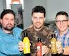 Les cofondateurs de Canada Sauce sont (de gauche à droite) : Jean-Sébastien Gauthier, Simon-Pierre Murdock, Jean Boivin et Nicolas Beaupré (absent lors de la prise de photo).