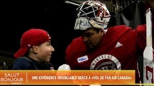 Image principale de l'article Un fan des Canadiens de Montréal réalise un rêve