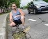Le nid-de-poule responsable de l'accident se trouve sur la bande cyclable du boulevard Père-Lelièvre.