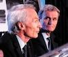 Le PDG de Michelin, Jean-Dominique Senard (à gauche), et le président du conseil de Camso, Pierre Marcouiller, se sont rendus à Montréal et à Magog jeudi pour annoncer la transaction.