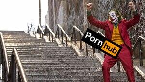 Image principale de l'article Joker est aussi un triomphe... sur Pornhub