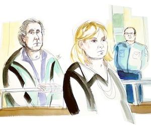 Ronald Weinberg a fait une brève apparition derrière la vitre du box des accusés vendredi.