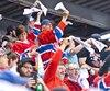 De nombreux partisans du Canadien ont encouragé leur équipe favorite, mercredi au Centre régional K.C. Irving.