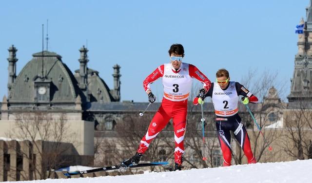Alex Harvey, Coupe du monde de ski de fond, style libre, Plaines d Abraham, Quebec, 19 mars 2017. PASCAL HUOT/JOURNAL DE QUEBEC/AGENCE QMI