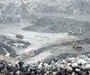Un des sites à ciel ouvert où sont extraits les diamants de la nouvelle mine Renard.