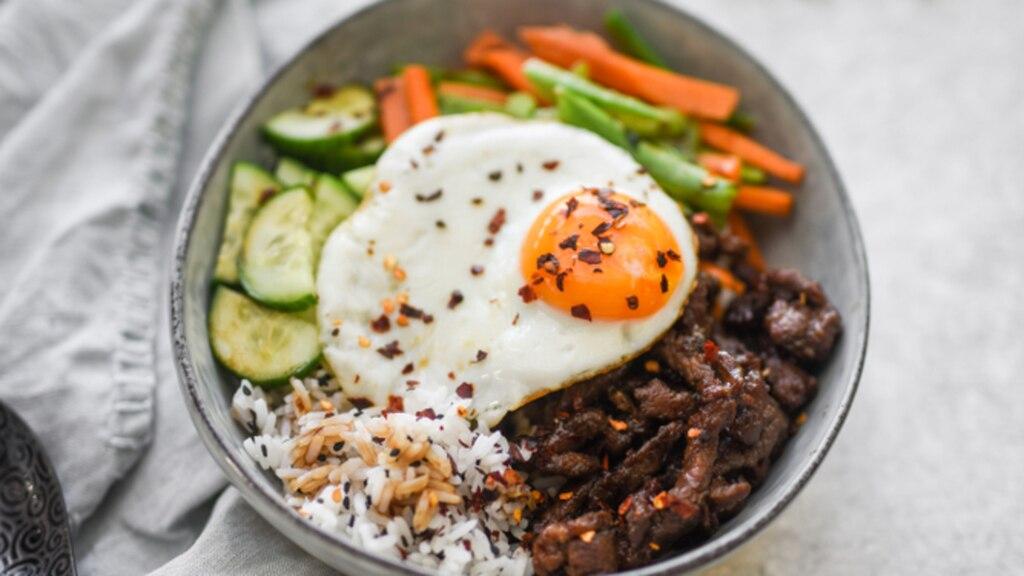 Porc haché à la coréenne (Bibimbap)