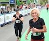 Arrivee du marathon SSQ Levis- Quebec prËs du quai Saint-Andre