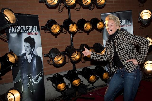 Judith Bérard lors du tapis rouge avant le spectacle du chanteur Patrick Bruel au Centre Bell de Montréal.