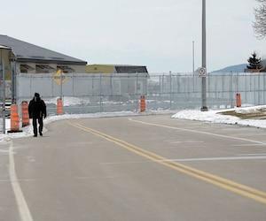 Le 6avril dernier, des clôtures avaient déjà été installées autour du Manoir Richelieu, à La Malbaie, en prévision du Sommet du G7 qui aura lieu en juin.