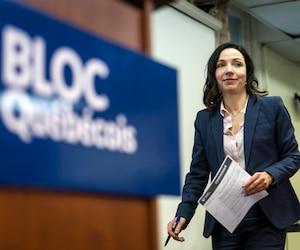 La cheffe du Bloc québécois, Martine Ouellet
