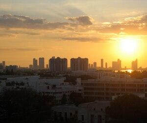 Coucher de soleil sur Miami, en Floride