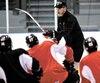L'entraîneur-chef Patrick Roy s'est montré éloquent envers les jeunes envoyés dans la mêlée pour le premier match hors-concours disputé dimanche après-midi, à Rimouski.