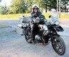 Stéphane Guertin roule sur sa nouvelle moto achetée au début du mois d'août.