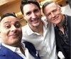 Russell Peters, Justin Trudeau et Bryan Adams.