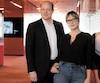 Anne-Marie Losique et Gregory Dorcel, directeur général du groupe Marc Dorcel, avec qui elle a lancé la chaîne spécialisée Dorcel TV au Canada et aux États-Unis.