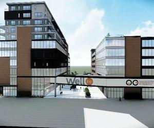 Représentation du futur quartier des entrepreneurs Well inc.