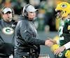 L'entraîneur-chef des Packers Mike McCarthy et son quart-arrière vedette Aaron Rodgers.
