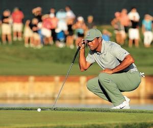 Tiger Woods a tenu les spectateurs en haleine, jeudi.