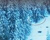 Stéphane Boisvert (en mortaise) a descendu Canyon Creek, une vallée derrière la station de ski Kicking Horse Mountain Resort. Il a marché 8 kilomètres dans la vallée, vers la ville de Nicholson, suivant la rivière dans l'espoir de sortir de là. Les secours ont capté les images de l'intervention.