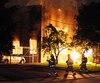 Le siège des compagnies Construction DAMC et Pavage CSF a été la cible d'une attaque au cocktail molotov en août 2012.