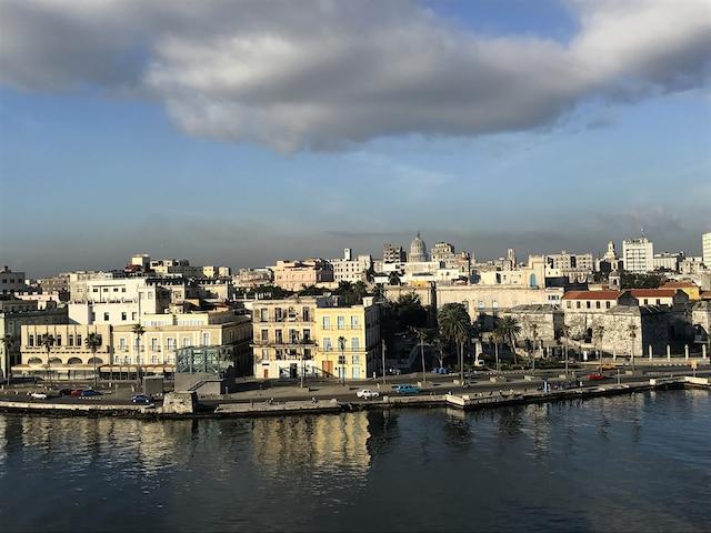 La Havane vue de la mer.