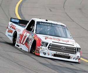Raphaël Lessard en était dimanche à son troisième départ dans la série des Camionnettes Gander Outdoors de NASCAR.