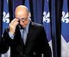 Le député et vétéran libéral de Marquette, François Ouimet, qui s'est senti trahi par son chef Philippe Couillard, peinait à retenir ses larmes mercredi lorsqu'il s'est adressé aux médias.
