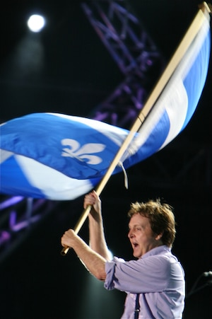 Paul McCartney lors de son passage à Québec, en 2008.