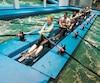 L'aviron est un sport complet qui sollicite tout le corps dans un mouvement explosif.