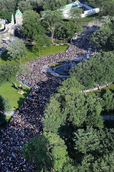 Les fans des Stones se sont donné rendez-vous sur les Plaines pour voir leurs idoles  interpréter leurs grands succès.