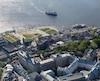 Vue aérienne de la place des Canotiers