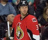 Ottawa Senators' #3 Marc Methot waits for the play to start during their NHL hockey game against the Edmonton Oilers at the Canadian Tire Centre in Ottawa on Saturday, February 14, 2015. Matthew Usherwood/Ottawa Sun/QMI Agency