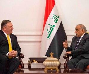 Mike Pompeo et le premier ministre israélien Adel Abdel Mahdi.