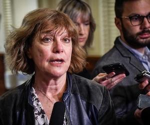 La présidente de la Fédération pour le droit des femmes du Québec, Diane Guilbault