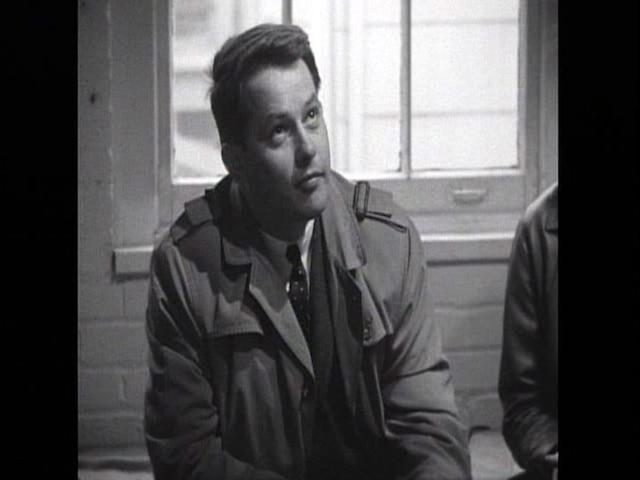 Bernard Landry dans un film de la cinémathèque.