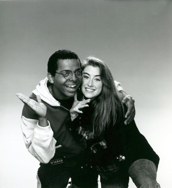 Marie-Soleil et Gregory Charles à l'époque des Débrouillards.