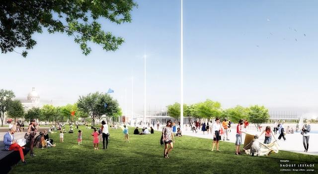 L'esplanade du Vieux-Port sera agrémentée de plus d'espaces verts et de passerelles donnant accès au fleuve.