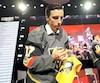 Marc-André Fleury lors du dévoilement du nom des joueurs au repêchage d'expansion, mercredi soir, à Las Vegas.