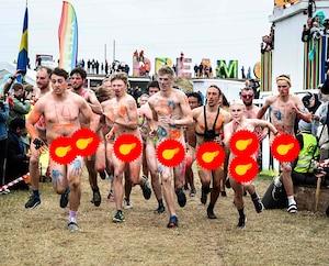 Merveilleuses photos d'une course de nudistes