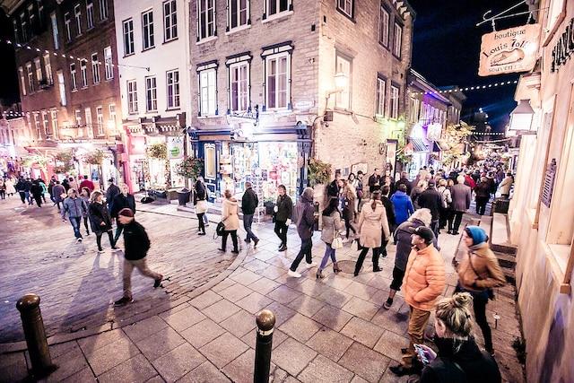 La nuit des galeries est un événement majeur du Vieux-Québec.
