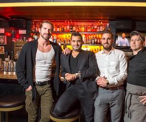Jonas, Julian Prince, Jérémie Labbé et Colin Griffin.